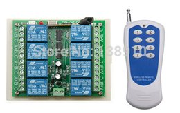 Wholesale Ch Switches - Wholesale- New DC 12V 8 CH channel RF Wireless Remote Control Switch remote control