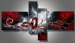 Wholesale Handicraft Wall - 4PC 1set Oil Painting Large Modern Abstract Art Wall Deco canvas Handicraft(no framed)