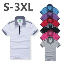 Wholesale Mens Cotton Lapel Shirts - Summer Top High quality brand Embroidery lapel Men's polo Shirt Men Short Sleeve Casual Men Shirts Slim Fit Polo Homme Cotton Mens Polo