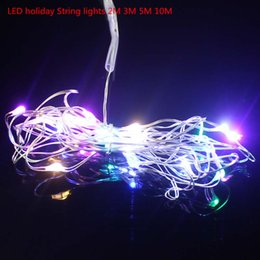 Wholesale Water Proof Led Christmas Lights - Wholesale- 2 M 3 M 5 M Proof D 'Water LED holiday lights Tethers for Colored Fairy Christmas Party Xmas Festival Of LED Rope Lights