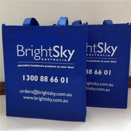 Wholesale Promotional Shopping Bags Logo - Wholesale- wholesales1000pcs lot customized printed company brand logo 30x40x15cm promotional eco-friendly reusable non woven shopping bags