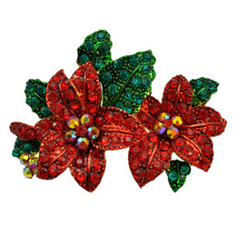 Wholesale Holiday Christmas Wreaths - Christmas Wreaths Of Flowers And Plants And Animal Brooches Holiday Ornaments Factory Direct
