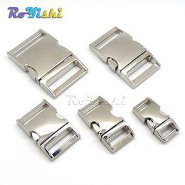 Wholesale Curved Metal - 10pcs lot Side Release Curved Metal Buckle for Bag DIY Paracord Buckles For Bracelet