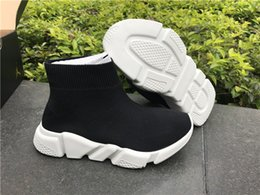 Wholesale Toe Sports Socks - 2017 New Arrival kids shoes Speed Trainers knit Socks Sneakers Girls Boys Mid Casual Sports Shoes Mercurial Shoes euro 25-35