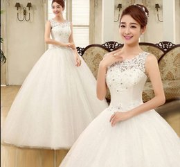 Wholesale Wedding Dresses Large Trains - Wholesale New Arrival Hot Sale Fashion Luxury Princess Organza Royal Flowers Diamond Sweet Girl Large Size Ball Gown Bridal Wedding Dress