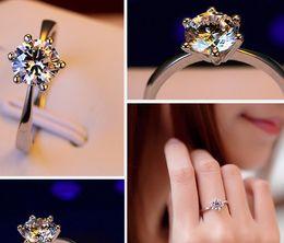 Wholesale Dimond Engagement Rings - Anniversary ring Dimond silver Engagement wedding gold Ti new arrive arrow heart Solitaire lady CA KR crastyle women Paris EUR US