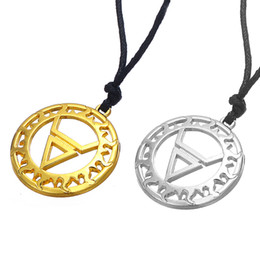 Wholesale Gold Jewellery For Men - Symbol of God Veles in the Circle Double Layer Necklace Slavic Pendant Rope Chain Ethnic Jewellery for Men and Women