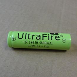 Lampes de poche en Ligne-18650 5800mAh Flat top Green3.7 V batterie au lithium peut être utilisé dans appareil photo numérique lampe de poche LED et ainsi de suite