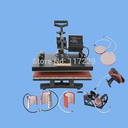 Wholesale Tshirt Transfer Press Machines - New Design Single Display 8 In 1 Heat Press Machine ,Mug Cap Plate TShirt heat press,Sublimation printer,heat transfer machine