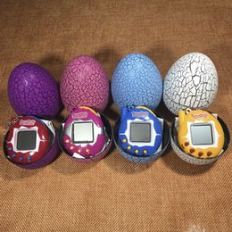Wholesale Games Hands - Tamagotchi tumbler Toy with a keychain EDC Multi-color Cartoon Surprise Egg Electronic Pet Mini Hand-hold Game Machine, a Gifts Toy
