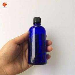 Wholesale Wholesale Large Glass Jars - Wholesale 100ml Glass Large Liquid Bottles with Black Cap Sealing up Packing Liquid Bottles Perfume Jars 12pcs lot