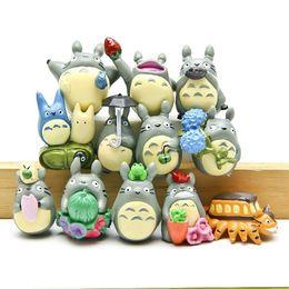 Wholesale Miniature Figures Set - 12pcs set Studio Ghibli Figure Hayao Miyazaki Totoro Garden Decoration Miniatures Terrarium Figurines Anime Action Figures Toys