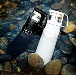 Wholesale High Quality Coffee Mugs - Wholesale- Fashion H2O High Quality Stainless Steel Coffee Thermos Cups Mugs Thermal Bottle Thermocup 500 ml