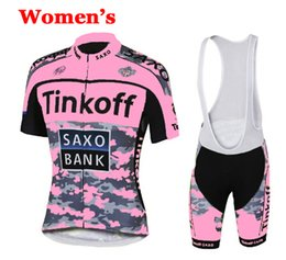 Wholesale saxo woman cycling - 2017 women tinkoff saxo bank Cycling clothing mtb bike clothes man cycling jerseys outdoor sports bicycle jersey summer short sleeve jersey