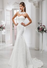 Wholesale Simple Elegant Dress Designs - Sweetheart Neck Special Design Sexy Elegant Simple Wedding Dresses Full Lace Covered Buttons Court Train Custom Wedding Dress