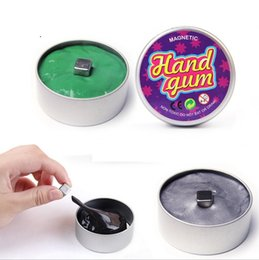 Wholesale Popular Children Toys - 2017 Most Popular Fidget DIY Toy Children And Adults Tin Package Megnetic Silly Putty Hand Gum Toy