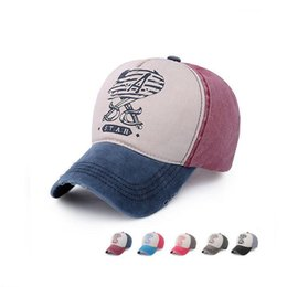 Wholesale old knifes - Brand new Baseball cap men and women cotton to do the old truck cap printing double knives hat EMB046