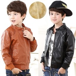 Wholesale Black Leather Flight Jacket - Boys Girls Flight Pilot Jacket Kids Ma1 Boys Girls Flight Pilot Bomber Biker Style Winter Coat Jacket Size Kids Jackets Boys