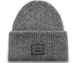 Wholesale Face Golf - ACNE autumn winter unisex beanies smile face knit warm casual men women beanies outdoor sports hat hip-hop streetwear skateboard gorro
