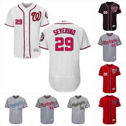 Wholesale National Customs - Washington Nationals 2017 Flex Base 28 Jayson Werth 29 Pedro Severino 30 Koda Glover 31 Max Scherzer 32 Matt Wieters Custom Baseball Jerseys