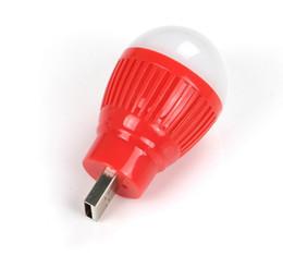 Wholesale Fan Energy Saving - Wholesale USB small bulb, color LED, mini lamp, wireless computer, mobile power, emergency lamp, LED energy-saving lamp