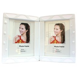Wholesale Plastic Picture Photo Frames - 7-inch double-sided frame cute European creative plastic picture decoration for children's baby photography studio home decoration