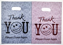 Wholesale thank plastic bags - 100pcs 25*35cm Plastic Bags with Thank You Logo Fashion Jewelry Makeup Shoe Underwear Hat Clothes packaging Gift Pouches