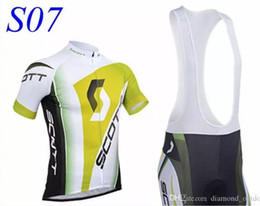 Wholesale Scott Bib Pants - Scott RC Summer Cycling Jerseys Ciclismo Breathable Bike Clothing Quick-Dry Bicycle Sportwear Ropa Ciclismo GEL Pad Bike Bib Pants