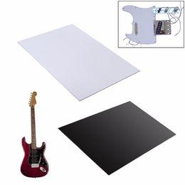 Wholesale Guitar Parts Pickguard - Wholesale- 29x43cm Guitar Bass Pickguard Blank Material Plain White 3Ply Pickguard Sheet Guitar Parts & Accessories