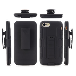 Wholesale Future Covers - For iPhone 7 Plus Kickstand Combo Case for iPhone X 8 Future Armor Hybrid Silicone Hard Cover W  Belt Clip