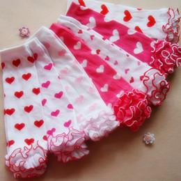Wholesale Warm Christmas Socks - Lovely Girl leggings Tights Baby Girls Leg Warmer Socks Ankle socks Peach Heart Pure Cotton Girl Christmas Gifts Legging 20pairs A6347