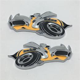 Wholesale Car Bee - For Dodge Charger Super Bee Logo Car Fender Side 3D Metal Emblem Badge Sticker Set of Two