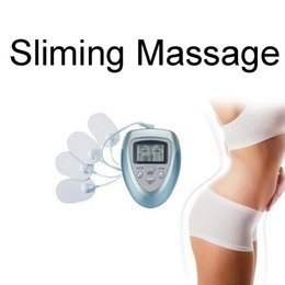 Wholesale Therapy Stimulator Massager - Health Care 4 Pads Electrical Stimulator Full Body Relax Muscle Therapy Slim Massager Vibration Body Massage for Women