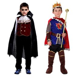 Wholesale Kids Vampire Costumes - Dress up cosplay costume children masquerade vampire Halloween costumes Prince charming costumes cos Arab costume costumes