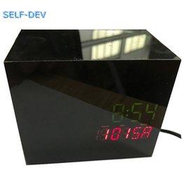 Wholesale Led For Gopro - Black LED CLOCK For hidden Gopro Hero 5,Black Box Silm - Gopro Hero 5 Case