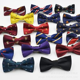 Wholesale Check Dhl - Hot Sale Children Baby Boys Bowtie Imitation Silk Formal Tuxedo Bow Tie Wedding Necktie Stars Check Polka Dot Stripes DHL Fast Shipping