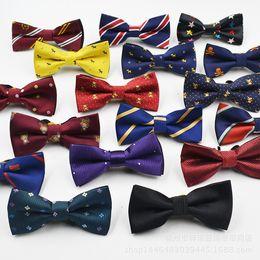Wholesale Baby Grid - Hot Sale Children Baby Boys Bowtie Imitation Silk Formal Tuxedo Bow Tie Wedding Necktie Stars Check Polka Dot Stripes DHL Fast Shipping