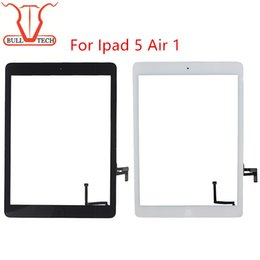 Wholesale Ipad Digitizer Screen Replacement Parts - For iPad air 1 ipad 5 Digitizer Screen Touch Screens Glass Assembly with Home Button Adhesive Glue Sticker Replacement Parts A1474 A1475