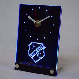 relógios de mesa de cerâmica Desconto Atacado-tnc1007 FC Utrecht Football Club Eredivisie 3D LED mesa relógio de mesa