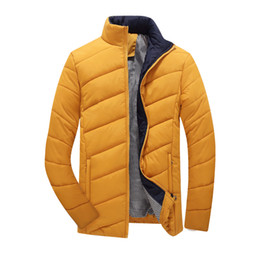 Wholesale Large Size Down Coats - Wholesale- 2015 Autumn and Winter Jacket Men Wadded Coat Mens Thicken Fashion Outerdoor Wear Casual Clothing Male Outwear M-5XL Large size