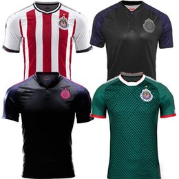 Wholesale Chivas Soccer - Top quality Mexican soccer jerseys 17 18 Chivas survetement football shirts 2018 Guadalajara BRAVO REYNA O.PINEDA futebol camisa de jerseys