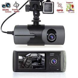"Wholesale Dual Cmos Sensor - Wholesale- 2016 hot sale new 2.7"" DVR Camera Video Recorder Dash Cam G-Sensor GPS Dual Len Camera very fashion"