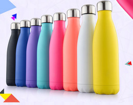 Wholesale Customized Stainless Steel Water Bottles - Wholesale 500ml bowling bottle Stainless Steel Sport Outdoor Water Bottles Travel Insulation Thermos Cup can customize logo