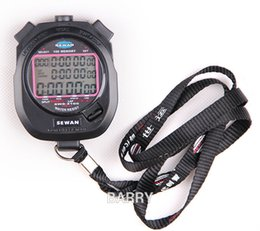 Wholesale Stop Counter - Wholesale- SEWEAN Stopwatch SW8-3100 Digital Chronograph 1 100 second Sports stop watch Counter timer 3 row 100 memories Lap split