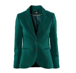 Wholesale Boyfriend Blazer Women - British Dark Green Elastic Slim Back Slit Designer Casual Suit Jacket Small Suit Plus Size Women Blazer Boyfriend Xs-Xxl D2933