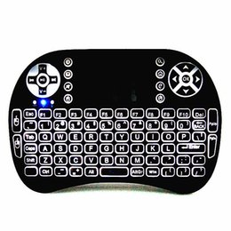 Wholesale Vista Tv - Mini 2.4 GHz Backlit Wireless Keyboard and Mouse Combo with Touchpad LED Remote Control for PC Android TV Box Windows XP Vista 7 8 10
