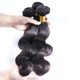 Wholesale Weft Cap - Body wave human hair weft natural color hair bundles hair weave no shedding,tangling free 3 pcs with a free lace cap