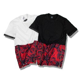 Wholesale Tshirt Printing China - Brand Clothing T Shirt Men White China 2017 Spring Summer Classic Letter Basic Stripe Print Cotton T-shirt Tee Men Tshirt