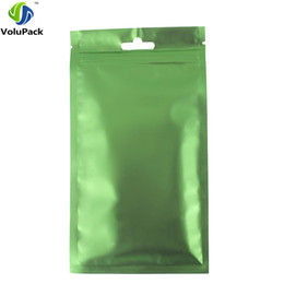 Wholesale heat set fabric - High Quality 9x15cm 100pcs Butterfly Hang Holes Metallic Mylar Matte Front Heat Sealable Flat Ziplock Storage Pouch Bags