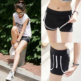 Wholesale beach jerseys - 2018 New Brand Sexy Running Yoga Shorts Women's Sportswear Loose Female Basketball Summer Jerseys Football Beach Fitness Gym Shorts for Girl